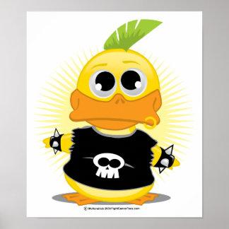 Punk Rock Duck Poster