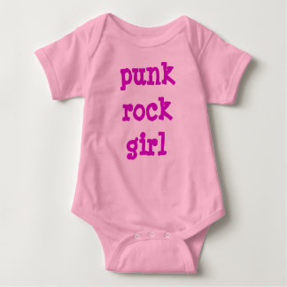 Punk Rock Girl Baby Bodysuit