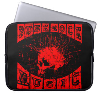 punk rock music laptop sleeve