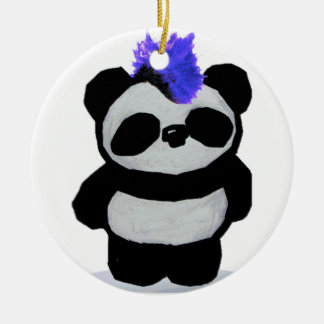 Punk Rock Panda Ornament