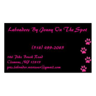 punk rock pink business card