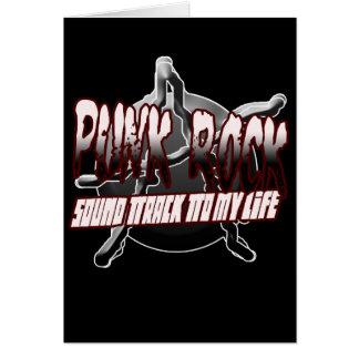 Punk Rock shirt hat hoodie sticker poster button Greeting Card