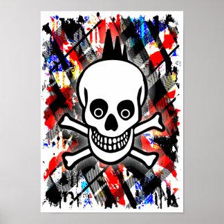 Punk Rock Skull Posters