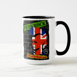 Punk rock - union jack Mohawk Mug