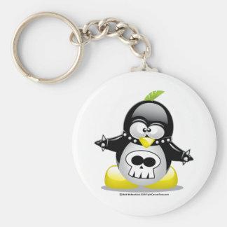 Punk Rocker Penguin Keychain