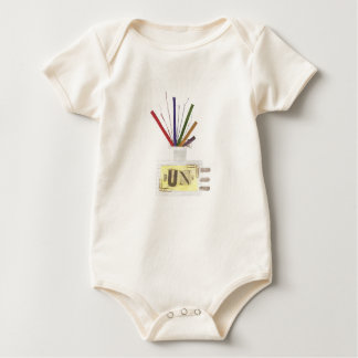 Punk Room Diffuser No Background Organic Babygro Baby Bodysuit