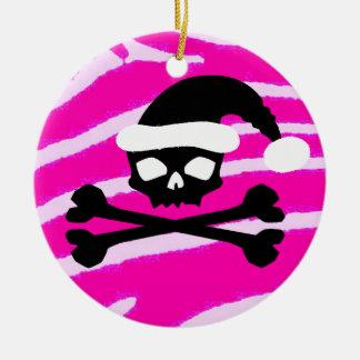 Punk Santa Skull Christmas Ornament