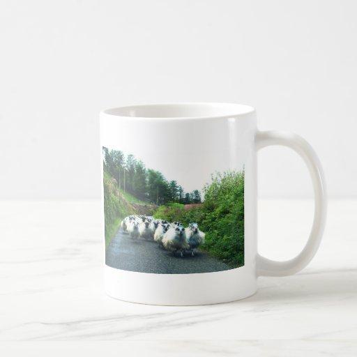Punk Sheep on the Beara Peninsula Ireland Basic White Mug