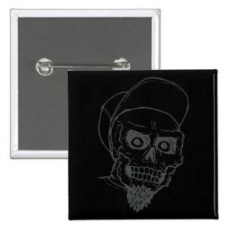 Punk Skull 15 Cm Square Badge