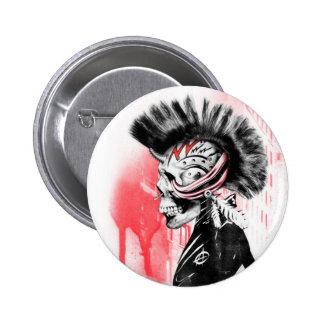 punk skull 6 cm round badge