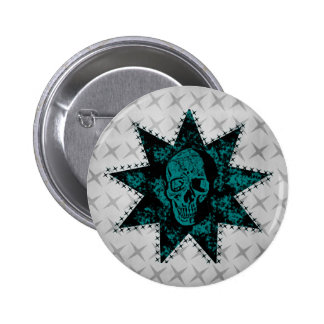 Punk Skull Button (Teal)