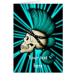 Punk Skull Card