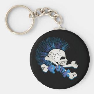 Punk Skull Key Chain