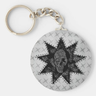 Punk Skull Keychain (Gray)