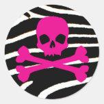 Punk Skull Round Stickers