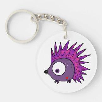 Punk the Hedgehog Double-Sided Round Acrylic Key Ring