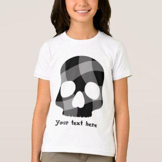Punk twisted gingham skull for kids T-Shirt