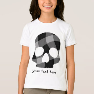 Punk twisted gingham skull for kids t shirts