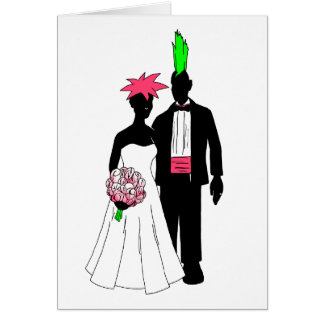 Punk Wedding Card