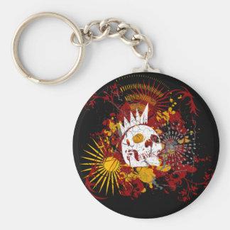 Punk'd Skull Keychain