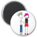 Punker Couple Fridge Magnet