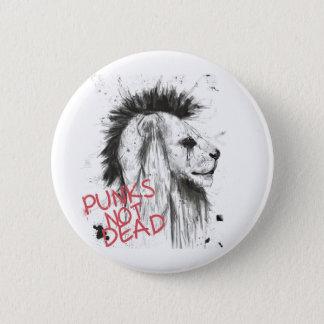 Punks not dead 6 cm round badge
