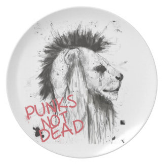 punks not dead party plate