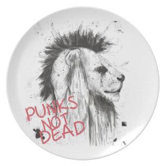 punks not dead plate