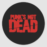 Punks Not Dead Round Sticker