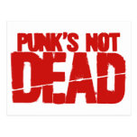 Punk's Not Dead - Video Game Gamer Gaming Postcards