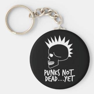 Punks Not Dead...Yet Skull Dark Key Ring