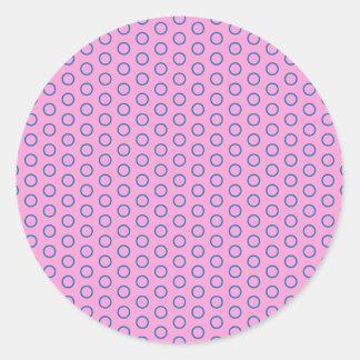 pünktchen purple pink pink scores polka dots dabs round sticker