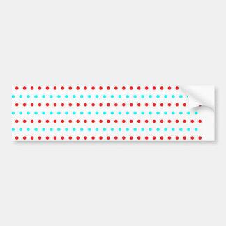 pünktchentupfen multicolored scored polka dots bumper sticker