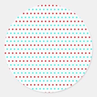 pünktchentupfen multicolored scored polka dots round sticker
