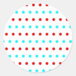 pünktchentupfen multicolored scored polka dots round stickers