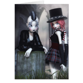 Punky Goths Greeting/Note Card