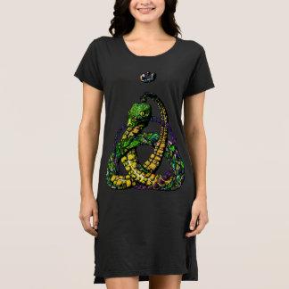 Punky Rock Celtic Knot Snake Color Dress