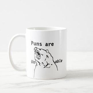 Puns are unBEARable Coffee Mug