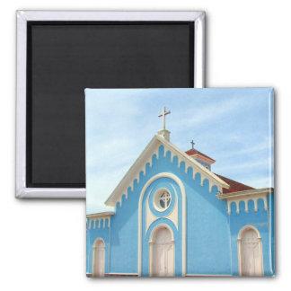 punta blue church square magnet