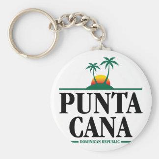 Punta Cana Basic Round Button Key Ring