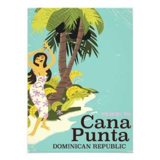 Punta Cana Dominican Republic Travel poster Photo Art