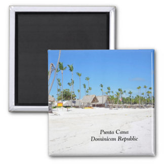 Punta Cana in the Dominican Republic Square Magnet