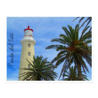 punta del este lighthouse postcard