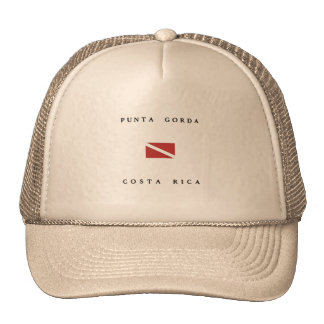 Punta Gorda Costa Rica Scuba Dive flag Mesh Hat