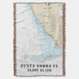 Punta Gorda FL Hometown Latitude Longitude Throw Blanket