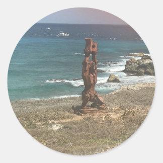 Punta Sur Sculpture, Mexico Stickers