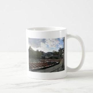 Punts on the River Cam in Cambridge Basic White Mug