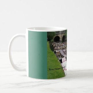 Punts on the River Thames, Oxford, England, UK Basic White Mug