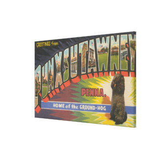Punxsutawney, Pennsylvania (Groundhog) Canvas Print
