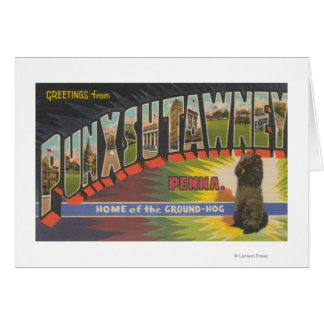 Punxsutawney, Pennsylvania (Groundhog) Card